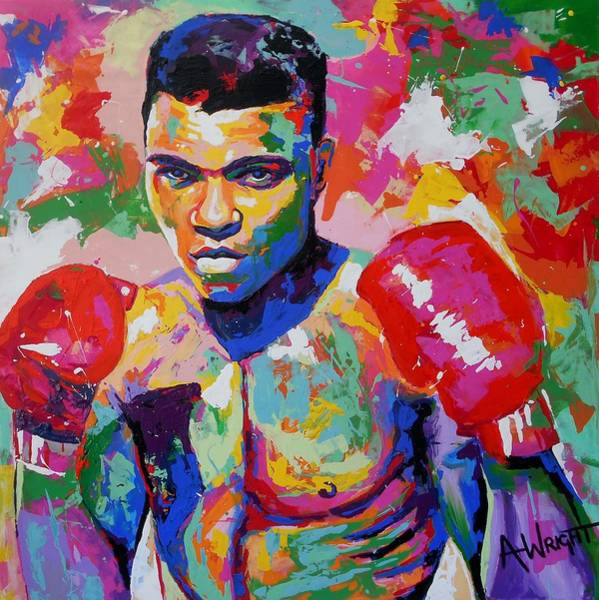 Boxing Painting - Bold by Angie Wright