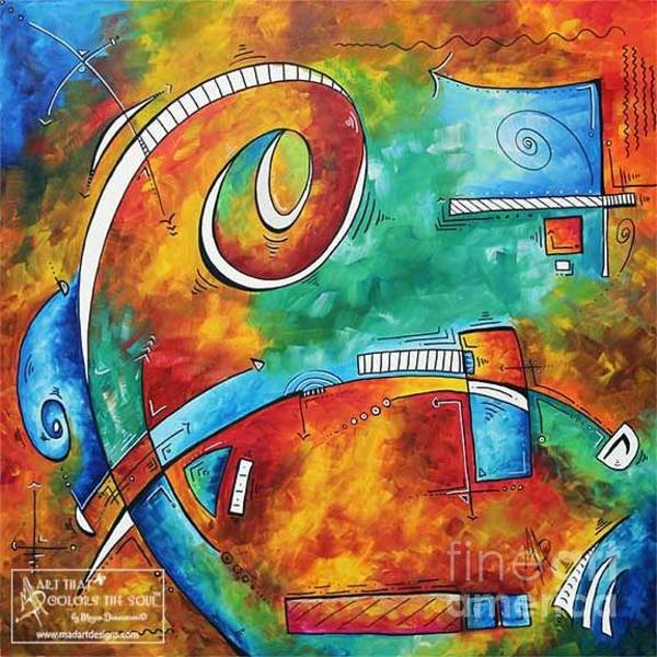 Wall Art - Painting - Bold Colorful Abstract Pop Art Original Contemporary Painting By Megan Duncanson Fire And Ice by Megan Duncanson