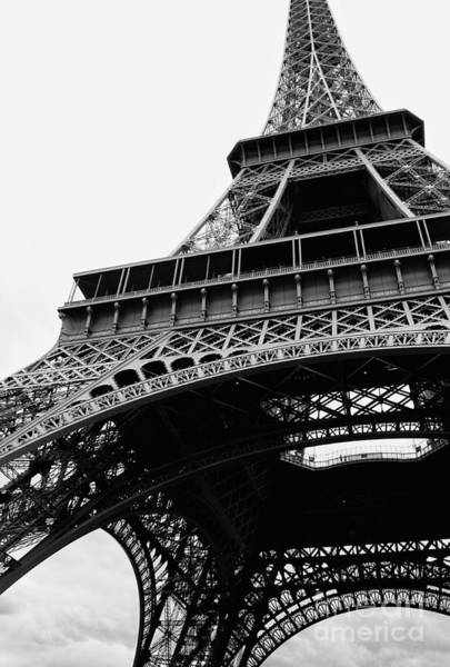 Photograph - Bold Eiffel Tower Black And White by Carol Groenen