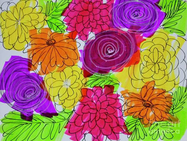 Painting - Bold Flowers by Kim Nelson