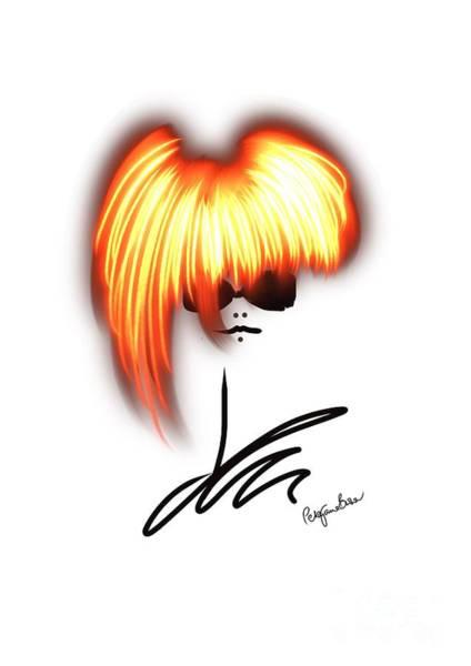 Hairdo Digital Art - Bold Gold by Peta Brown