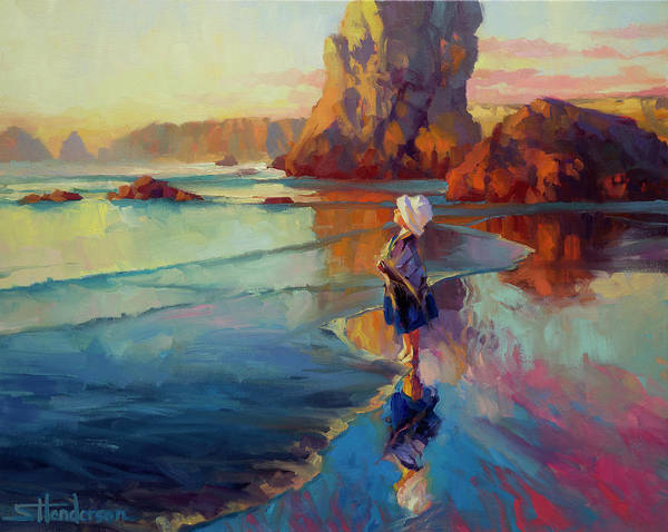 Child Painting - Bold Innocence by Steve Henderson