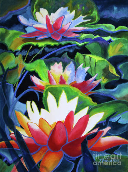 Wall Art - Painting - Bold Lilypads by Kathy Braud
