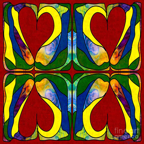 Digital Art - Bold Love Abstract Bliss Art By Omashte by Omaste Witkowski