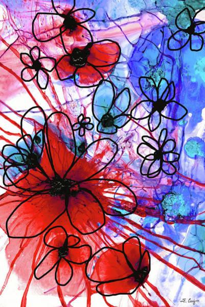Painting - Bold Modern Floral Art - Wild Flowers 3 - Sharon Cummings by Sharon Cummings