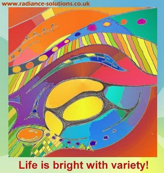 Drawing - Bold Organic - Life Is Bright With Variety by Julia Woodman