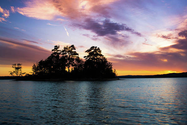 Photograph - Bold Sunset Over Lake Martin by Parker Cunningham