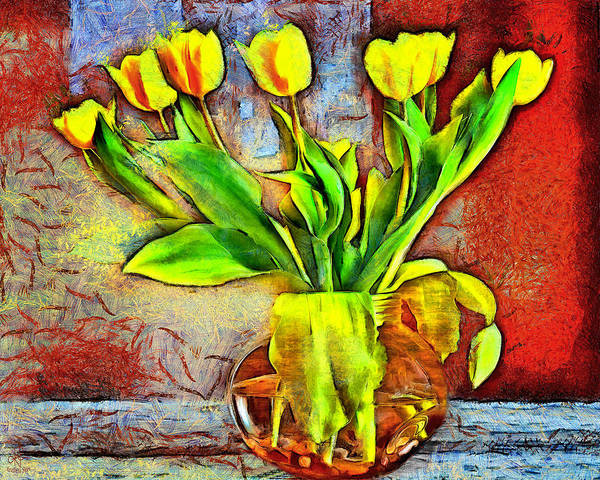 Digital Art - Bold Tulips by Pennie McCracken