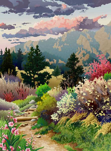 Spring Mountains Digital Art - Bolder Boulder 10k Poster 2007 by Anne Gifford