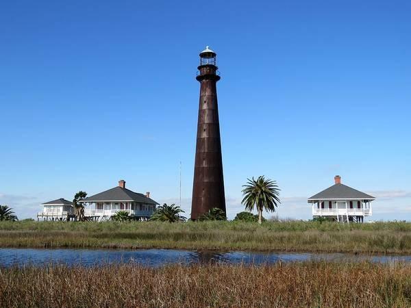 Photograph - Bolivar Point Lighthouse by Keith Stokes