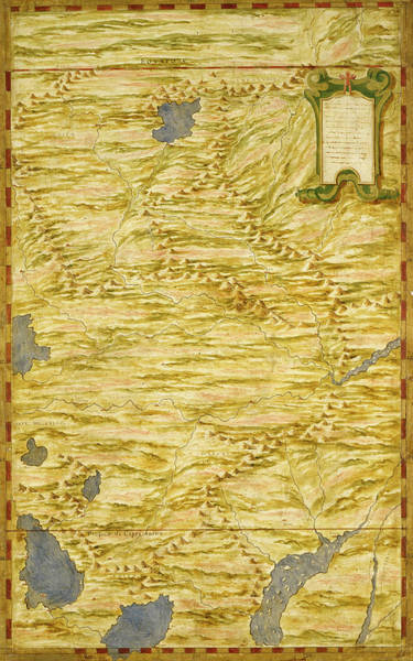 Bolivia Painting - Bolivia And Western Amazzonia by Italian painter of the 16th century