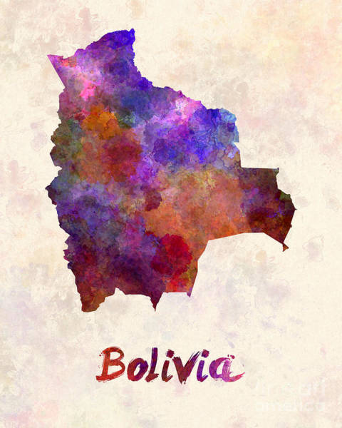 Bolivia Painting - Bolivia In Watercolor by Pablo Romero