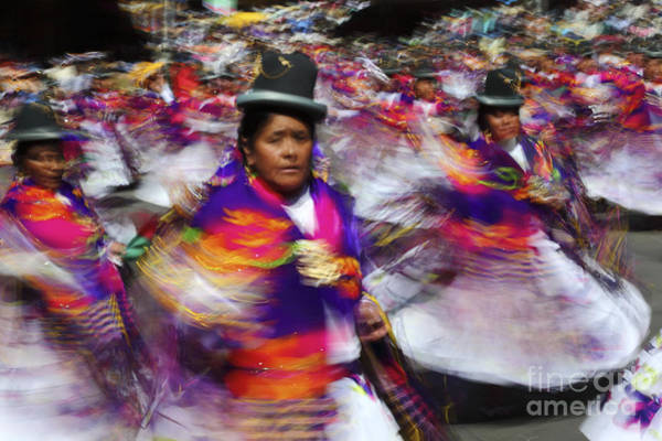 Photograph - Bolivian Festival Action by James Brunker
