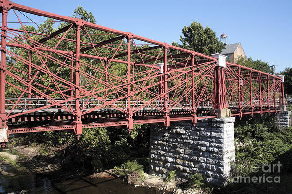 Bollman Truss Bridge At Savage In Maryland Art Print