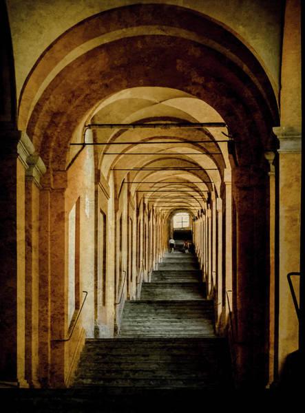 Photograph - Bologna, Italy - Stepped Portico by Mark Forte