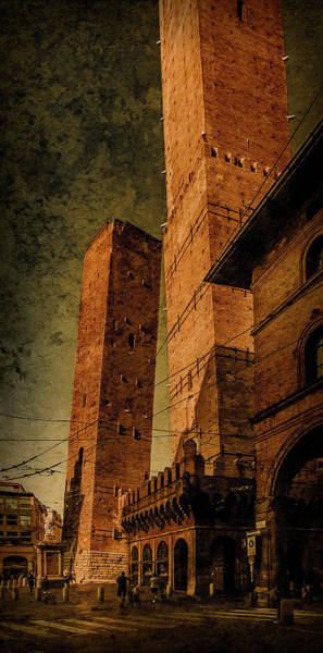 Photograph - Bologna, Italy - The Two Towers by Mark Forte