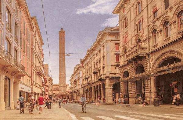 Photograph - Bologna, Italy - Via Rizzoli by Mark Forte