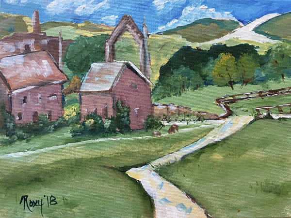Landscape Painting - Bolton Abbey by Roxy Rich