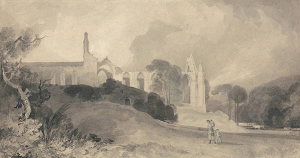 Drawing - Bolton Priory, Yorkshire by John Sell Cotman