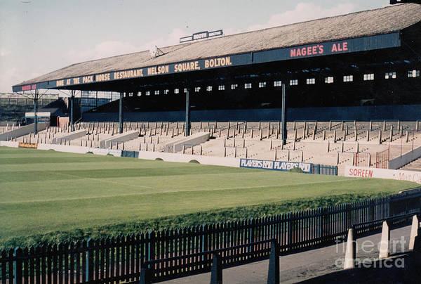 Wall Art - Photograph - Bolton Wanderers - Burnden Park - East Stand Darcy Lever 1 - September 1969 by Legendary Football Grounds