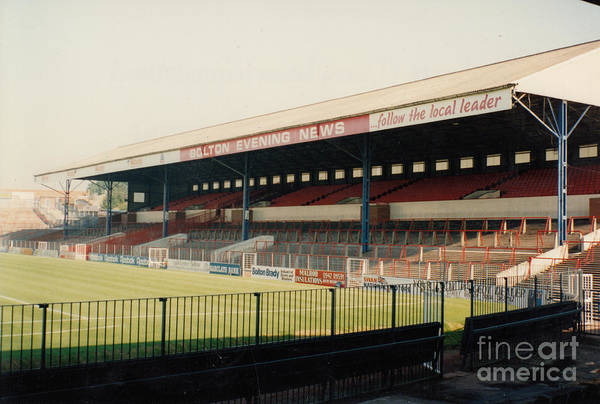 Wall Art - Photograph - Bolton Wanderers - Burnden Park - East Stand Darcy Lever 2 - August 1991 by Legendary Football Grounds