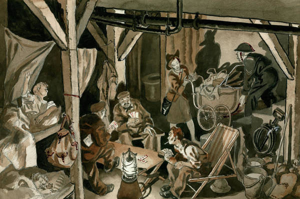 Safe Painting - Bomb Shelter During The Blitz by Peter Jackson