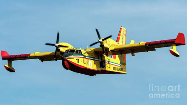 Wall Art - Photograph - Canadair Cl-415 During Water Charge Operation  by Roberto Chiartano