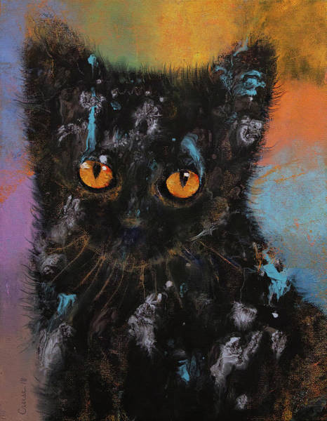 Crazy Cat Painting - Bombay Kitten by Michael Creese