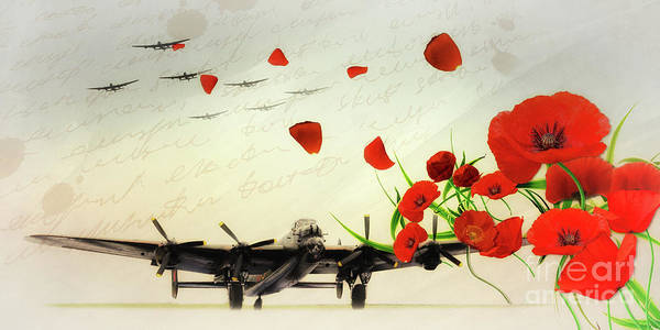 Wall Art - Digital Art - Bomber Command - Tribute by J Biggadike