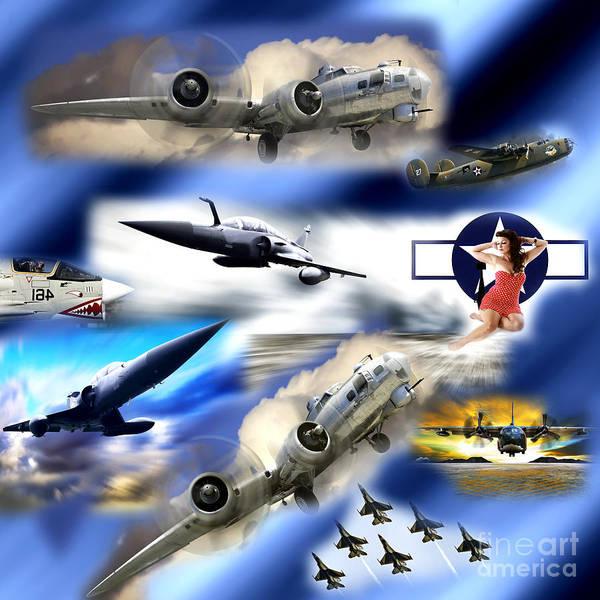 Wall Art - Digital Art - Bombers by John Rizzuto