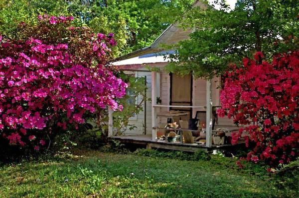 Digital Art - Bon Secour Pink Porch by Michael Thomas