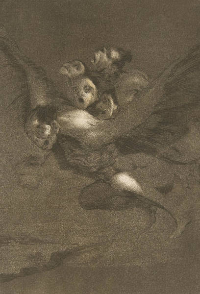 Relief - Bon Voyage by Francisco Goya