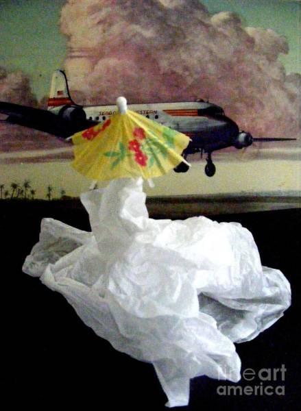 Paper Dress Mixed Media - Bon Voyage Mon Ami 2 by Nancy Kane Chapman