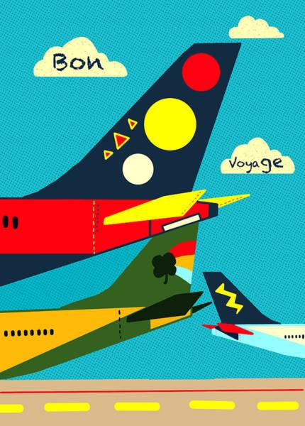 Voyage Digital Art - Bon Voyage by Nicole Wilson