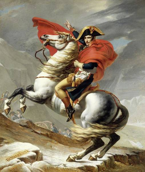 Painting - Bonaparte Crossing The Alps by Jacques Louis David