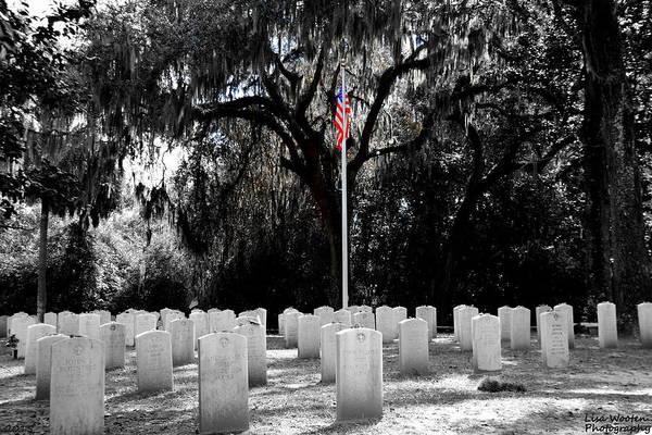 Photograph - Bonaventure World War 2 Cemetery by Lisa Wooten