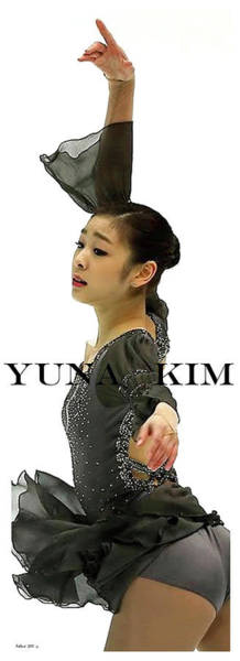 From Russia With Love Wall Art - Mixed Media - Bond Girl, Yuna Kim, Olympic Champion by Thomas Pollart