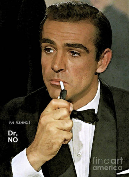 From Russia With Love Wall Art - Mixed Media - Bond, James Bond, Sean Connery by Thomas Pollart