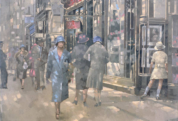 City Scene Painting - Bond Street by Peter Miller