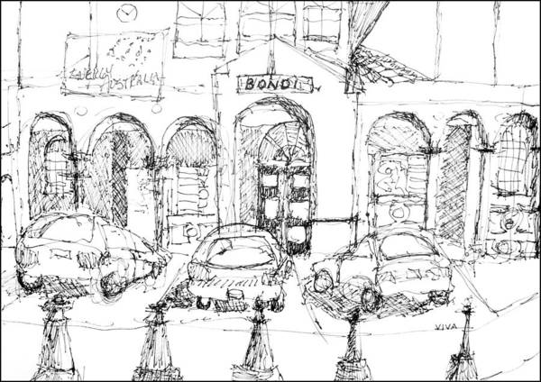 Drawing - Bondi Beach Pavillion by VIVA Anderson