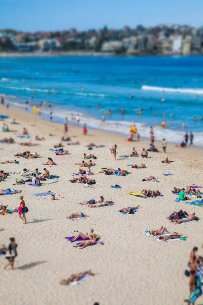 Beach City Photograph - Bondi People by Az Jackson