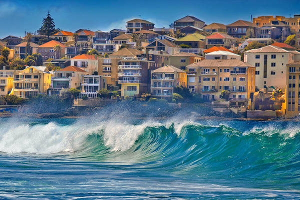 Beach City Photograph - Bondi Waves by Az Jackson