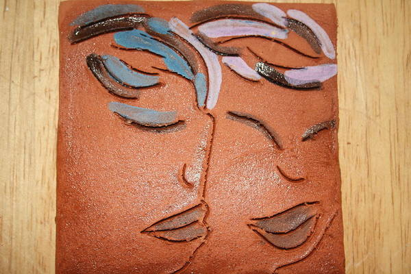 Ceramic Art - Bonds - Tile by Gloria Ssali