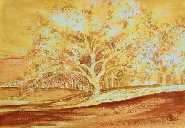 Painting - Bones Of The Cork Tree-landscape Painting By V.kelly by Valerie Anne Kelly