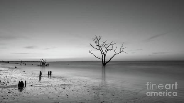East Bay Photograph - Boneyard Beach Sunrise Bw by Michael Ver Sprill