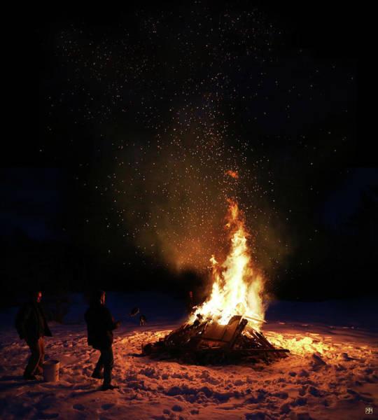Photograph - Bonfire by John Meader
