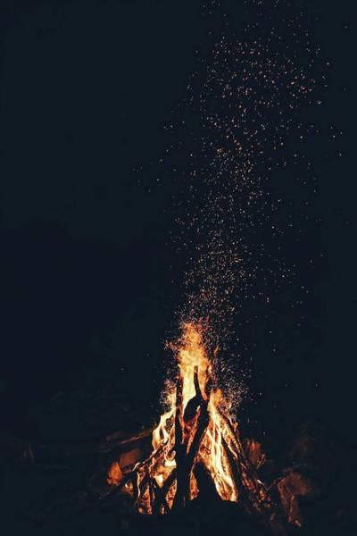 Photograph - Bonfire by Toa Heftiba