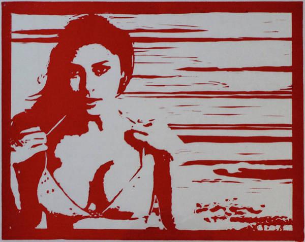 Digital Art - Bonita Linda, Red by Erik Paul