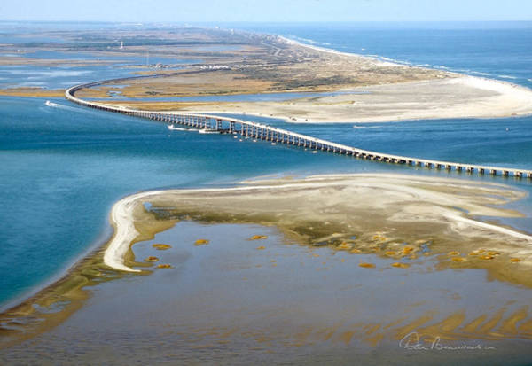 Photograph - Bonner Bridge Aerial by Dan Beauvais