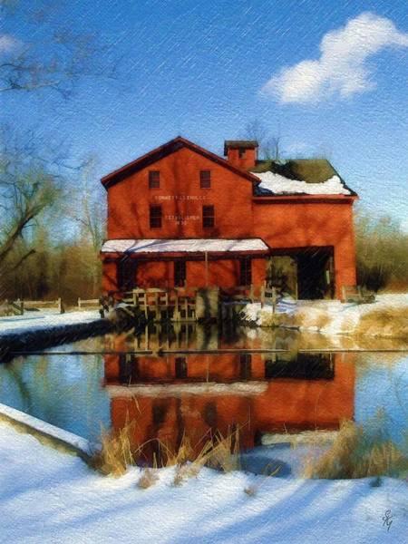 Bonneyville Mill Wall Art - Photograph - Bonneyville In Winter by Sandy MacGowan